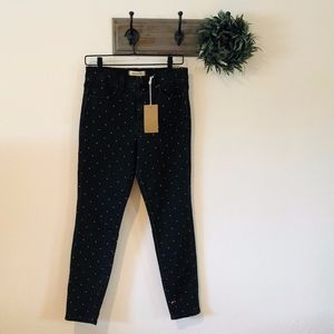 NWT Madewell Black Dot High Rise Skinny Jeans 28